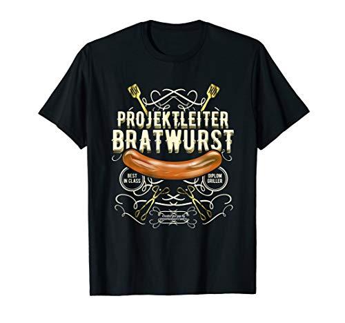 Grill Design Projektleiter Bratwurst T-Shirt