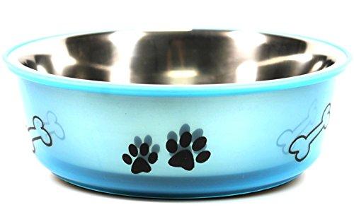 bick.shop Fressnapf Wassernapf Hund/Katze Edelstahl Ø 21cm Hundenapf Katzennapf Futternapf hundeschüssel (Blau)
