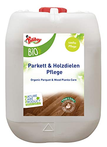 Poliboy - Bio Parkett und Holzdielen Pflege - Pflege und Schutz für wertvolle Holzböden - Vegan - 5 Liter - Made in Germany