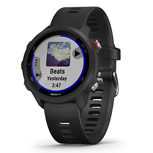 Garmin Forerunner 245 Music, GPS, Wi-Fi, EU AC, Negro/Rojo, L (010-02120-30)