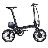 SKNIGHT E0 - Bicicleta plegable eléctrica de carbono, 14 pulgadas, bicicleta eléctrica plegable, mini City Folder 36 V/8,7 Ah, 180 W, batería de iones de litio Samsung