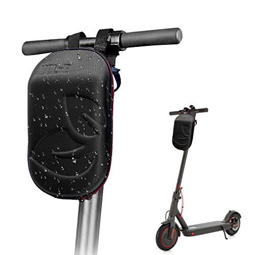Vel-E Scooter Lenkertasche für Elektro-Scooter wasserdicht Aufbewahrungstasche Elektroroller Vordertasche Scooter Tragetasche, Handyhalterung, Scooter-Zubehör, Ideal für Xiaomi Segway Ducati