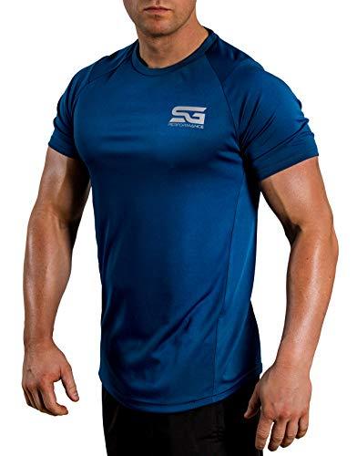Satire Gym Fitness T-Shirt Herren - Funktionelle Sport Bekleidung - Geeignet Für Workout, Training - Slim Fit (XXL, Petrol meliert)