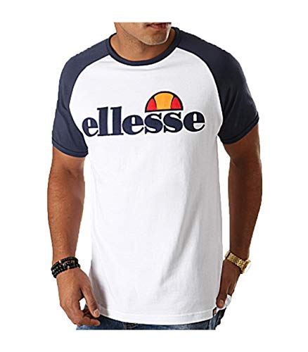 Ellesse Hombre Camiseta Piave, Blanco, S