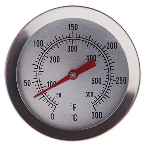 Termómetro de aceite para frituras - Termómetro de acero inoxidable para frituras de 150mm con un útil clip para la sartén Ideal para cocinar aceite, para freír con tranquilidad