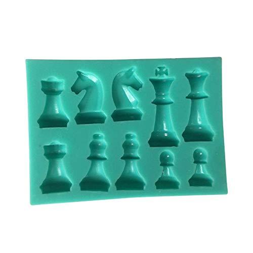 iBaste Molde de silicona de ajedrez internacional para tartas, molde de chocolate, duradero, flexible, para hacer tú mismo
