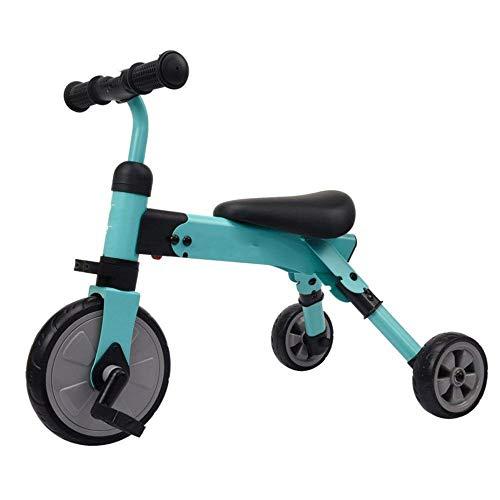 ZQY 2-in-1 driewieler voor kinderen en meisjes van 1 tot 6 jaar, opvouwbare rollator voor kinderen met drie wielen