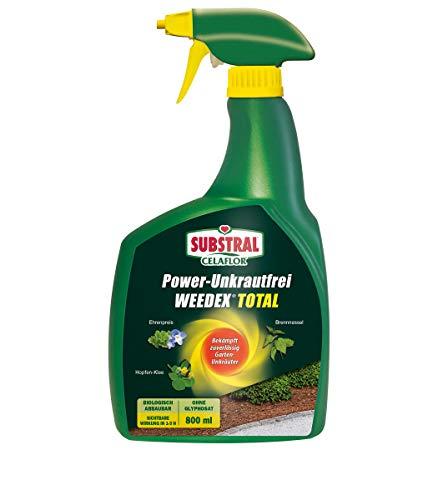 Substral Celaflor Power Unkrautfrei Weedex Total, Unkrautvernichter, bekämpft Unkräuter, Gräser und Moos, 800ml Sprühflasche