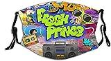 Star Heaven Face Cover The Fresh Prince Banner Foto Studio Background Graffiti Brick Wall Hip Hop Vintage Disco Balaclava Reusable AntiDust Bandanas Neck Gaiter con 2 Filtros