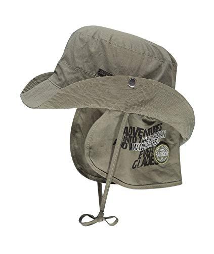 Döll Baby-Jungen Hut mit Nackenschutz Sonnenhut, Grün (Four Leaf Clover|Green 5320), 49