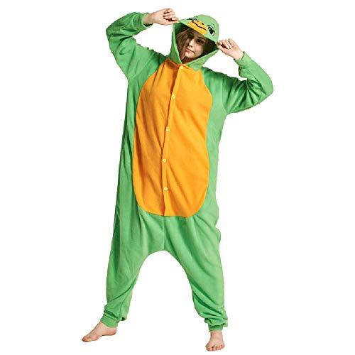 Pyjamas Jungen Bekleidung Animal Erwachsene Unisex Schlafanzüge Karneval Onesies Cosplay Jumpsuits Anime Carnival Schildkröte Spielanzug Kostüme Weihnachten Halloween Nachtwäsche