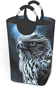 N\A Cesto de lavandería Cool Bird Cesto de Lavado Cesto de Ropa Plegable con asa Almacenamiento de Ropa Sucia 50 litros