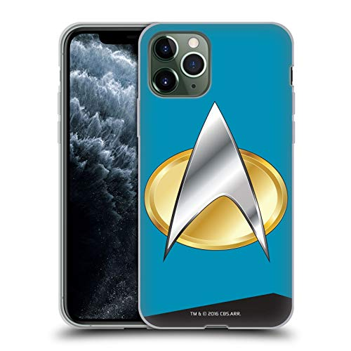 Officiële Star Trek Wetenschappen Uniformen en Badges TNG Soft Gel Case Compatibel voor Apple iPhone 11 Pro