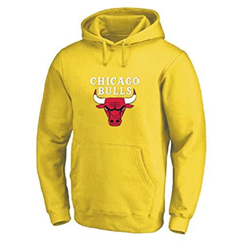 Michael Basketball Jordan Hoodies Chicago # 23 Hoodie Bulls Juego de Baloncesto Sudadera Casual Juego Sudaderas para Hombres yellow-3XL