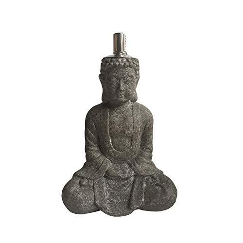HTI-Line Öllampe Buddha 1 Gartenfackel Gartenlampe Öl Lampe Outdoor Buddha