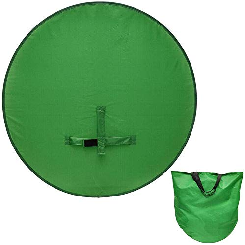 HHYSPA Photography Backdrop - 2 in 1 Collapsible Reversible Background Panel Green Blue Backdrop Background Screen Portable 4.65ft,for Photo Video Studio Green