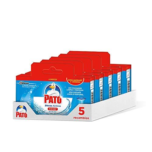 Pato - Discos Activos WC Recambio Marine, recambio con 6 dis