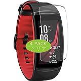 Vaxson 4 Stück Schutzfolie kompatibel mit Samsung Galaxy Gear fit2 pro / fit2 fit 2, Bildschirmschutzfolie Displayschutz Blasenfreies TPU Folie [Nicht Panzerglas]