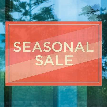 CGSignLab 18x12 Seasonal Sale 5-Pack Modern Diagonal Window Cling