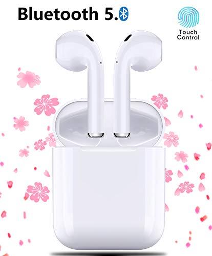Auriculares Inalambricos Auriculares Bluetooth 5.0, Auricular táctiles Auriculares Inalámbricos estéreo 3D,Auriculares internos con Estuche de Carga Mini,Micrófono bidireccional Incorporado