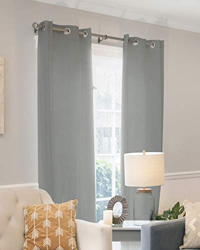 """CHICOLOGY Curtain Panels, Grommet Top Window Drapes, Virginia Gray (Privacy & Light Filtering) - 52""""W X 96""""H"""