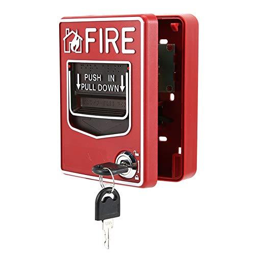 Pulsador Manual, pulsador Manual Convencional Botón de Alarma de Incendio Detrás de la posición de inclinación para Que se produzca un Incendio