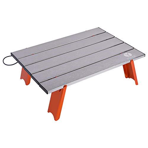 YOLER アウトドア キャンプテーブル ロールテーブル ロースタイル アルミ 折りたたみ式 YR-RT9893/シルバー