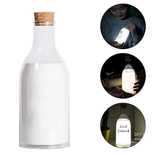 TISESIT LIGHT LED Milchflasche Nachtlicht USB Lade DIY Nachricht Nachtlicht Bett Lampe Home Office Dekoration Geschenk