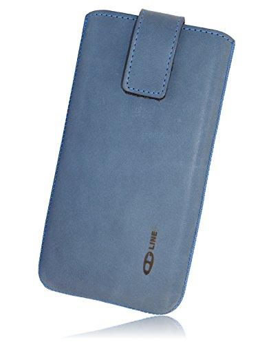OrLine–Funda calcetín para Sony Z5Compact/Mini Carcasa Funda Piel Carcasa Cover Funda Piel Slim Case con Solapa y de Pull Up Strap