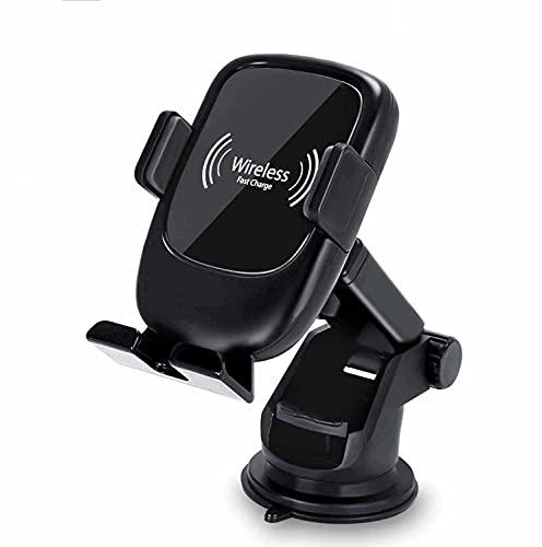 MRTYU-UY Cargador de coche inalámbrico rápido, soporte de teléfono para parabrisas de coche, para iPhone 11/11 Pro/11 Pro Max/Xs Max/Xs/XR/X/8 y más