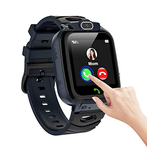 Reloj inteligente para niños Temporizador de llamadas SOS Video Selfie Camera Smartwatch para niños Pantalla táctil 7 juegos de...