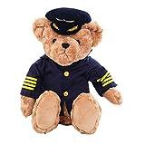 Plüschtier 25Cm Süß Weich Und Weich England Pilot Teddybär Plüsch Kapitän Bär Flugzeug Crew...