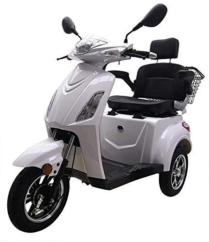 "Elektromobil ""VITA CARE 1000"", 25 km/h, 60 Kilometer Reichweite, Seniorenmobil, E-Roller, E-Scooter mit Straßenzulassung, Elektroroller, Senioren Elektromobil, Produktvideo, Weiß"