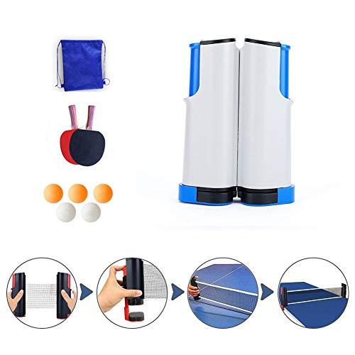 HJHYE Tischtennis Netze, Justierbarer Einziehbares Netz Ping Pong Ersatznetz, Beweglicher Reisehalter Einstellbare Länge 170(max) Für Draussen Innen AktivitätWhite