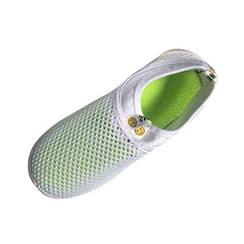 Kinder Schuhe OYSOHE scherzt Baby Mädchen Schuhe Süßigkeit Farben Gewebe Maschen zufällige Sport Turnschuhe (22 EU, Weiß)