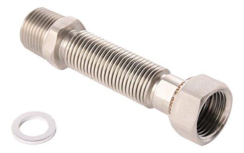 Sanitop-Wingenroth 27012 0 Edelstahl Flexrohr, 3/4 Zoll | 200-410 mm