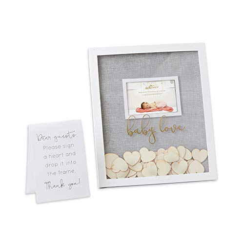 Kate Aspen Baby Shower Guest Book Frame Guestbook Alternative, One Size, Grey