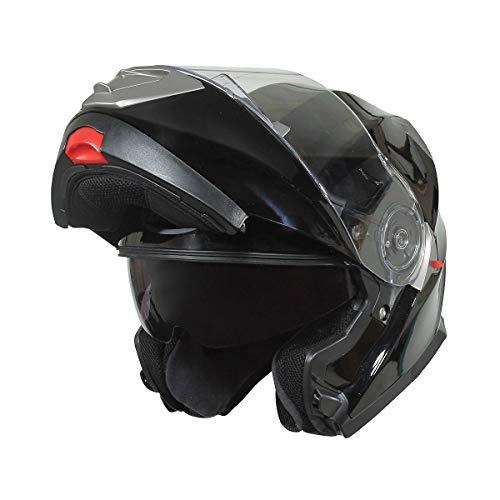 BiLT Evolution Men's Motorcycle Helmet, Black, XS