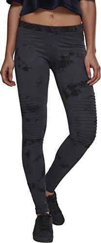 Urban Classics Damen Ladies Biker Batik Leggings, Mehrfarbig (Darkblue/Black 01310), W27 (Herstellergröße: S)