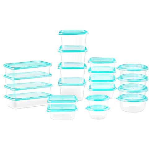 Esonmus Boîte Alimentaire,boîte de Conservation Alimentaire Plastique,Lot de 20 pièces,Conteneur alimentaire plastique avec couvercles hermétiques sans BPA,pour Cuisine, lave-vaisselle, Congélateur