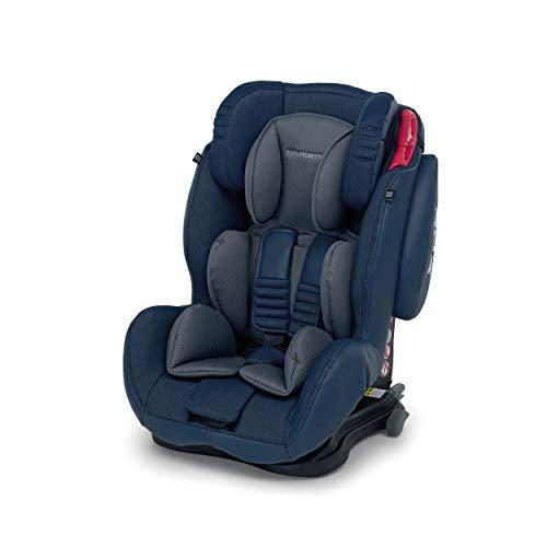 Foppapedretti Isodinamyk Seggiolino Auto ISOFIX Gruppo 1/2/3 (9-36kg), per Bambini da 9 Mesi Fino a 12 Anni, Jeans