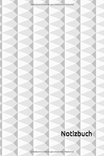 Notizbuch: Weißes Notizbuch | 6x9 Zoll DIN A5 | 120 Seiten Punktraster | Riffelmuster Notizheft | Rippen Tagebuch | Geripptes Notebook