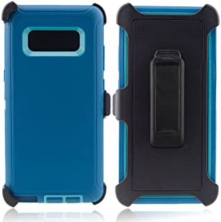 Samsung Galaxy S8 Plus Defender Case & Belt Clip for Samsung Galaxy S8 Plus, [Holster Fits Otter Box][No Screen Protectors] (Aqua)