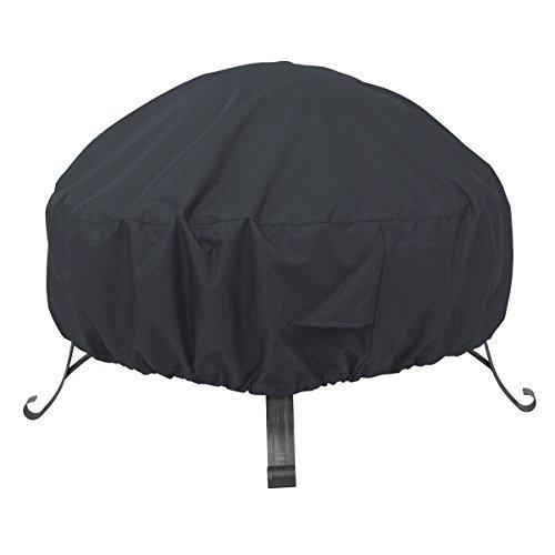 AmazonBasics Round Patio Fire Pit Cover - 1.52 m, Black