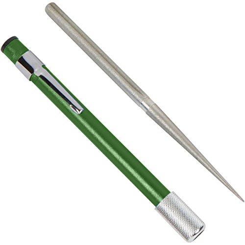 Dual Purpose Diamond Sharpening Rod - Sharpen Flat and Serrated Blades Easily