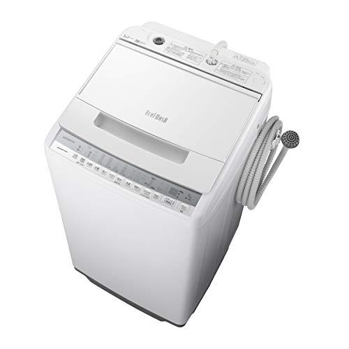 日立 7.0kg 全自動洗濯機 ホワイトHITACHI ビートウォッシュ BW-V70F-W