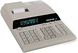 Monroe 8130 Ivory 12 Digit Print/Display by Monroe