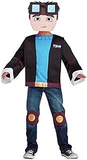 TDM Dan Tube Heroes Gaming 3D Costume Shirt Mask Boys Youth S M New