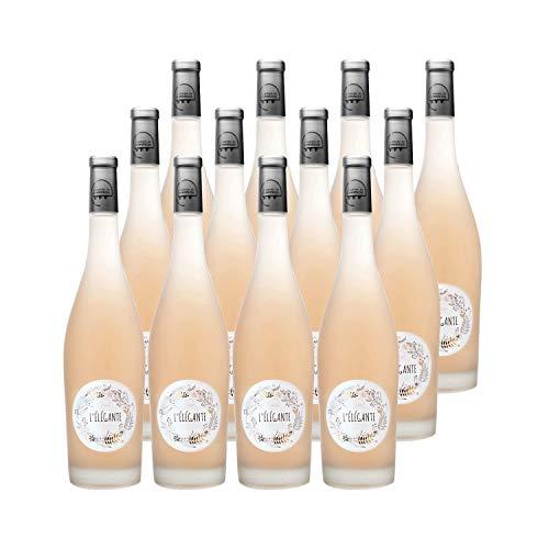 Pays d'Oc L'Élégante Rosé 2019 - Les Vignerons du Sommiérois - Vin IGP Rosé du Languedoc - Roussillon - Lot de 12x75cl - Cépages Cinsault, Grenache