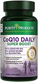 Purity Products - CoQ10 Daily Super Boost with Ginkgo & Resveratrol - 60 Capsules